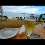 Champagne à la plage