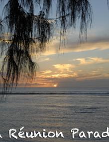 Coucher de soleil, plage de Saint-Leu