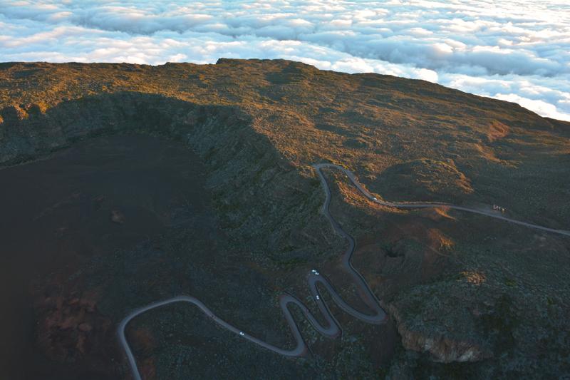 Route de la Plaine des Sables - Volcan
