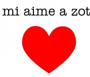 """""""je vous aime'"""