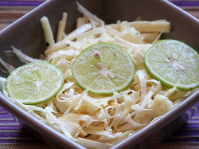 Recette : Salade de palmiste au magret de canard fumé