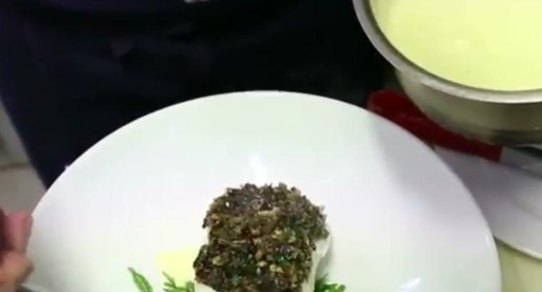 Recette de la légine aux algues